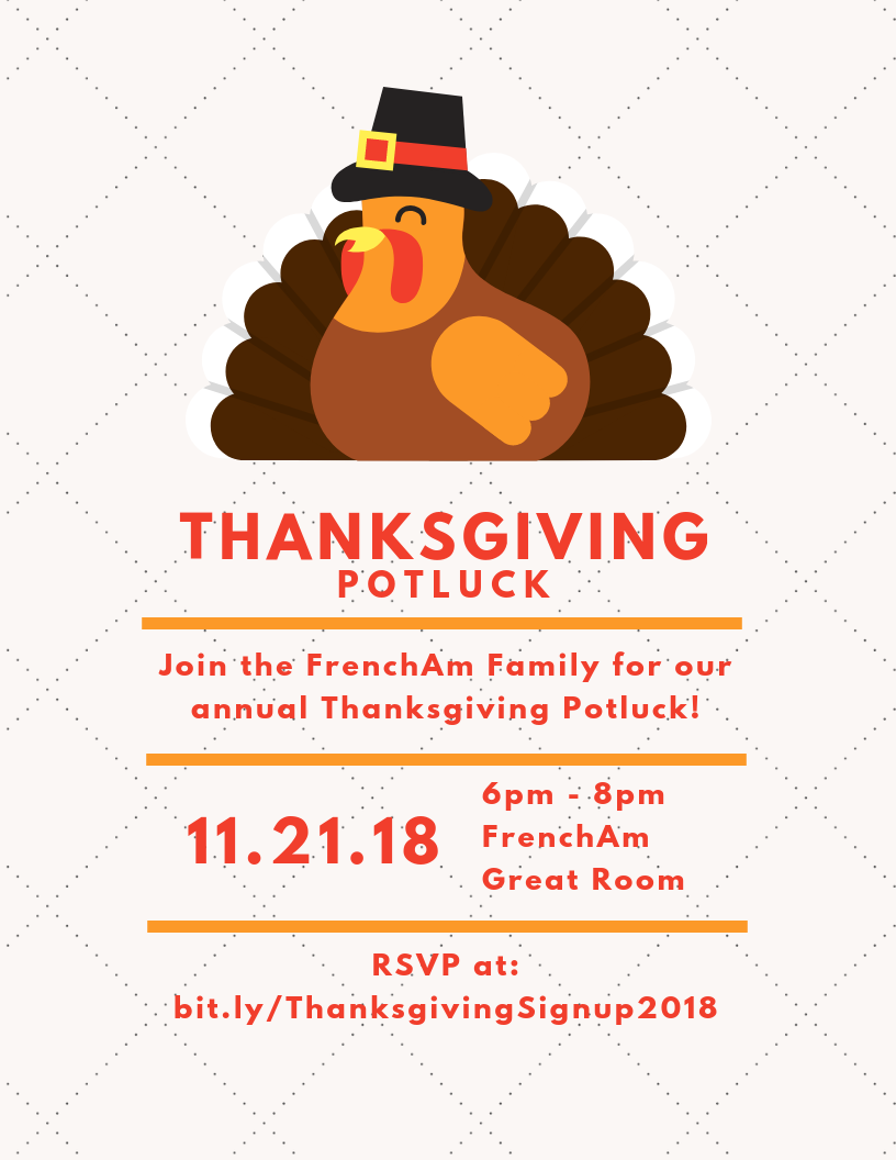 Thanksgiving Potluck Flyer
